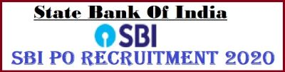SBI PO RECRUITMENT APPLY ONLINE FOR PROBATIONARY OFFICER
