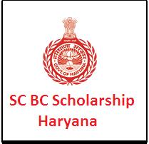 SC BC Scholarship Haryana
