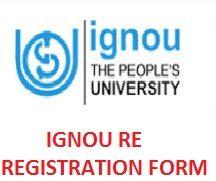 Ignou Re Registration Form 2021, January Session Apply Online