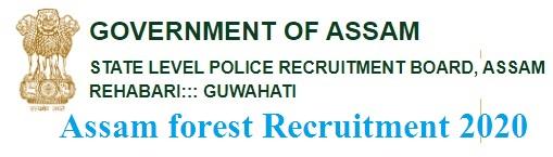 Assam forest Recruitment 2020 Apply Online for 1081 Posts