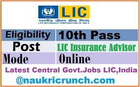LIC Insurance Advisor Recruitment 2020: for 100 LIC Agent