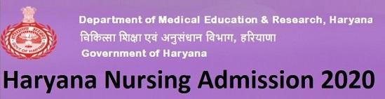 Haryana Nursing Admission 2020 Apply for B.Sc.,Post Basic,M.Sc