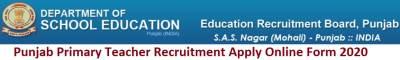 Punjab Primary Teacher Recruitment 2020 Apply for 8393 Posts